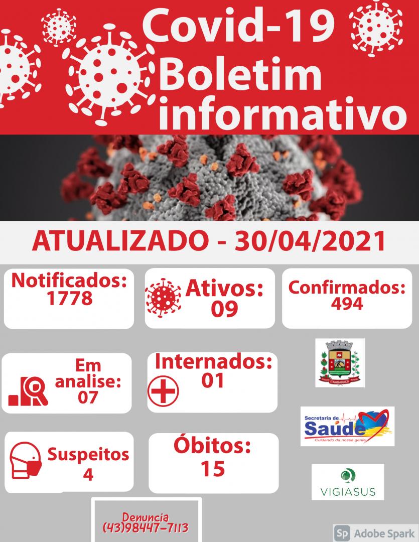 Boletim COVID-19 30/04/2021