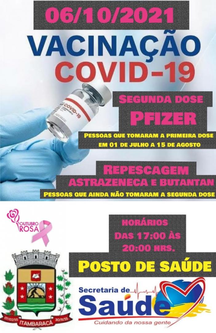 Vacinação COVID-19 - Segunda Dose Pfizer