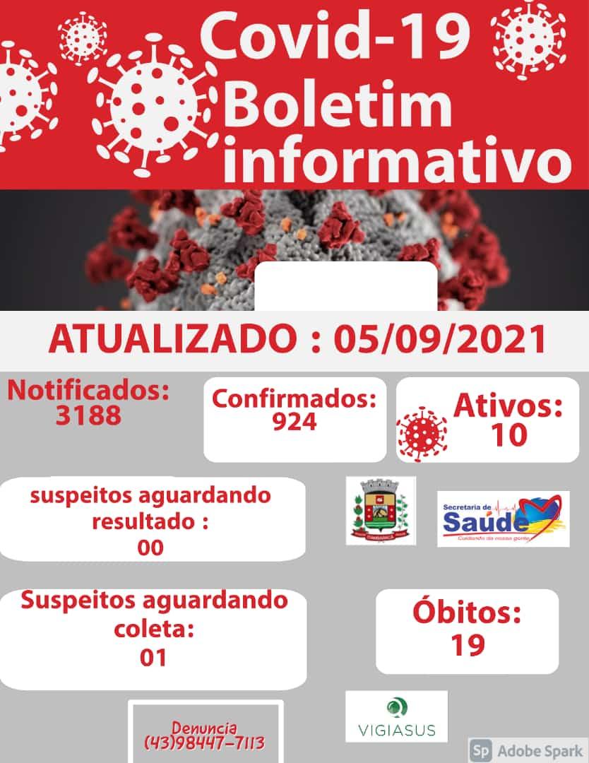 Boletim COVID-19 - 05/09/2021