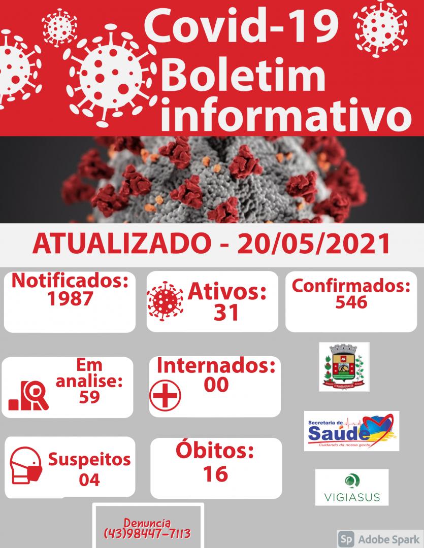 Boletim COVID-19 20/05/2021
