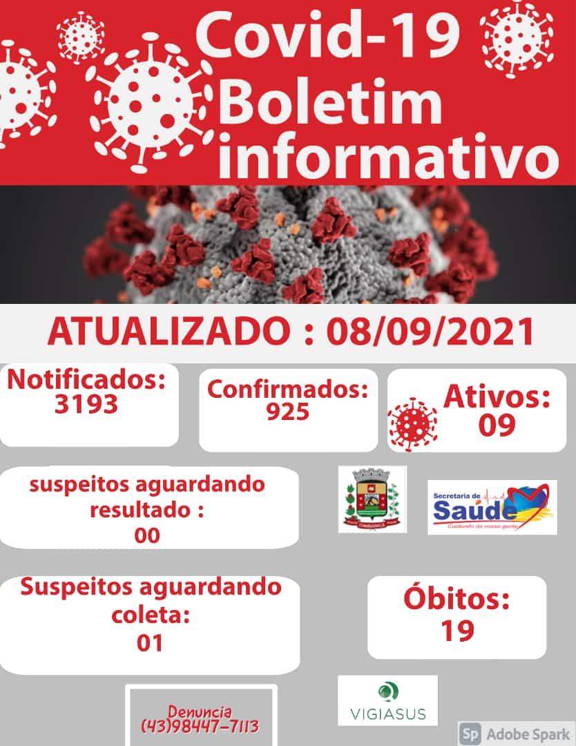 Boletim COVID-19 - 08/09/2021