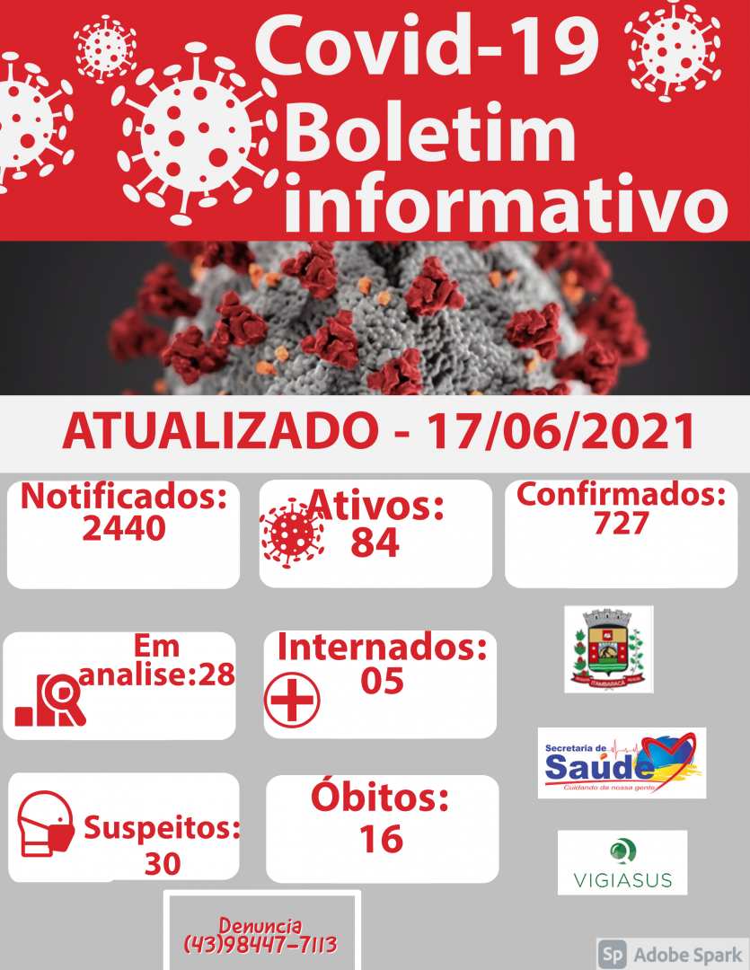 Boletim COVID-19 17/06/2021