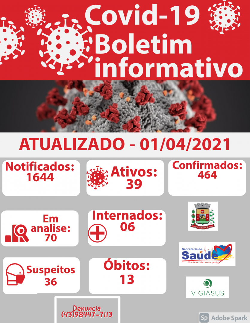 Boletim COVID-19 01/04/2021