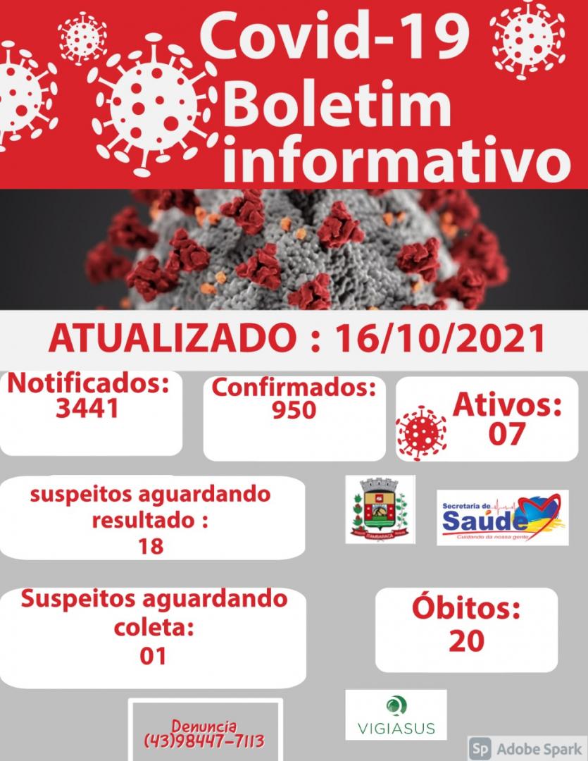 Boletim COVID-19 - 16/10/2021