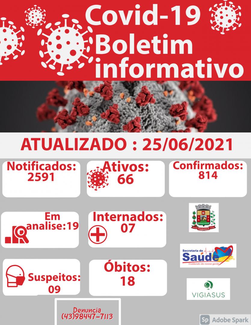 Boletim COVID-19 25/06/2021