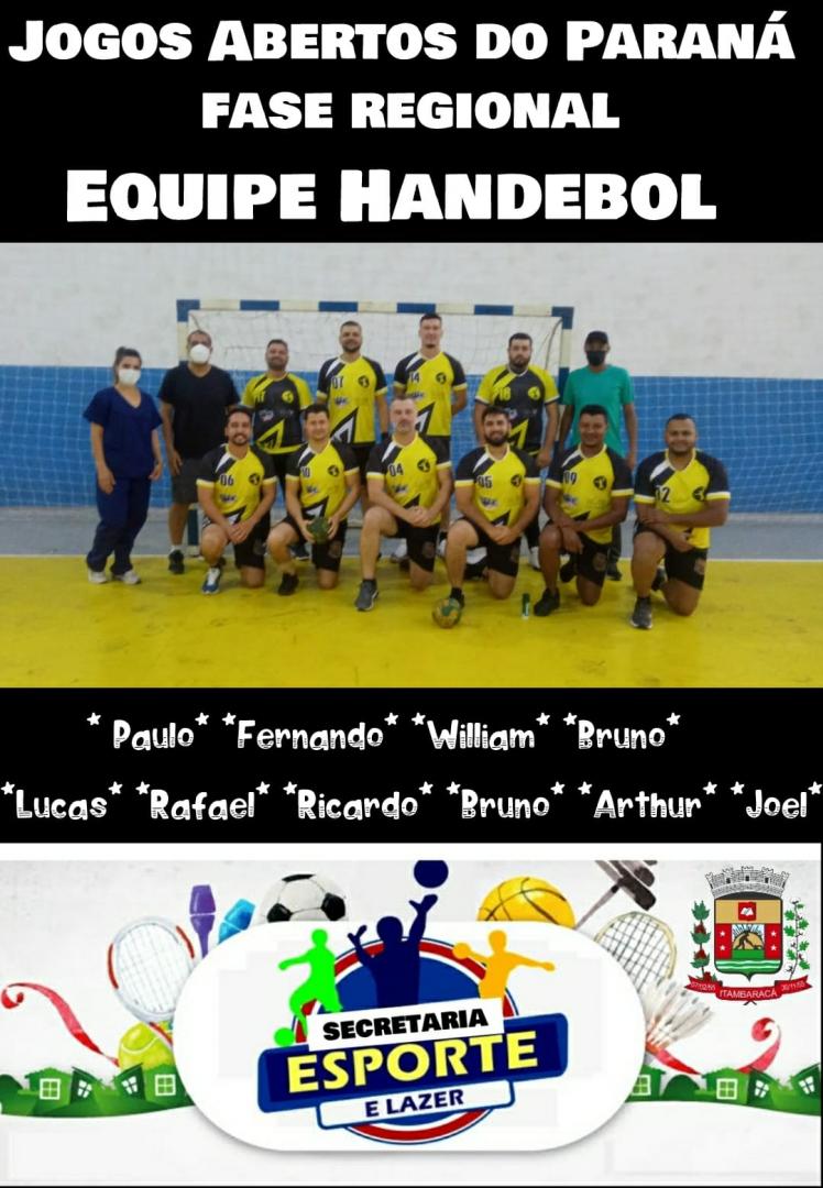 Jogos Abertos do Paraná - Fase Regional - Equipe Masculina de Handebol de Itambaracá Vence Partida Válida Pela Segunda Rodada