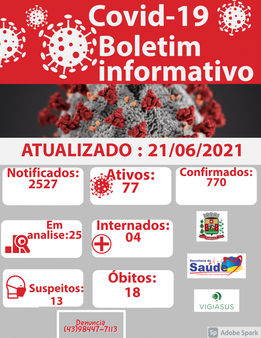 Boletim COVID-19 21/06/2021