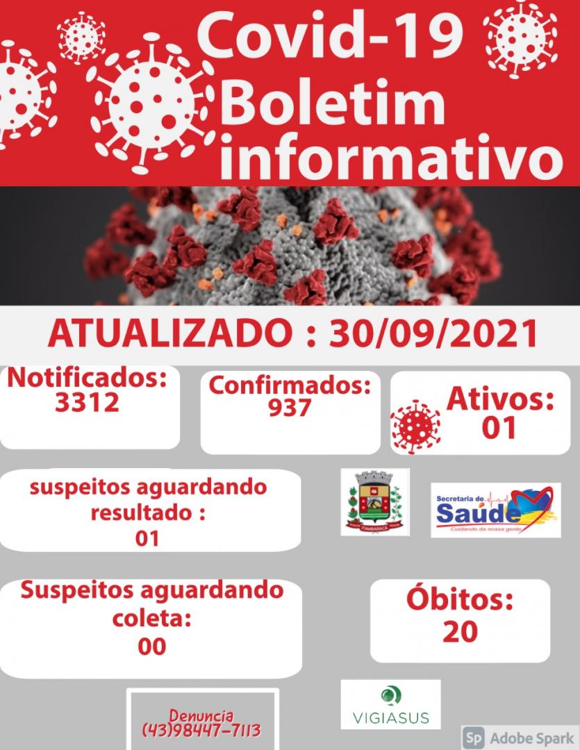 Boletim COVID-19 - 30/09/2021